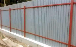 Забор из профнастила своими руками, установка забора из профнастила