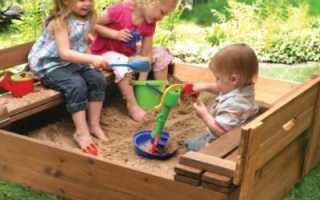 Как сделать детскую песочницу на даче своими руками, фото и видео