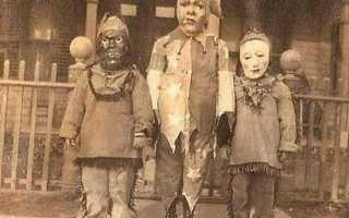 Страшные костюмы на Хэллоуин начала ХХ века: подборка фото