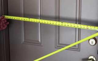 Размеры входных дверей металлических стандартные, как правильно произвести замер