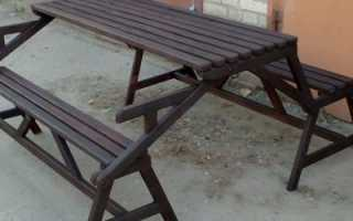 Как сделать лавку-стол своими руками: пошаговая инструкция