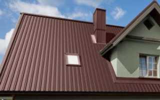 Размеры профлиста для крыши стандартные, его вес и расчет нагрузки на кровлю