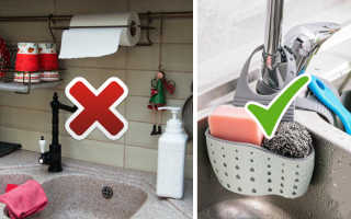 Как правильно хранить губку для мытья посуды на кухне