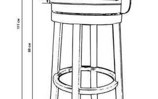 Как сделать барный стул своими руками из дерева, металла и других материалов + чертежи, фото и видео
