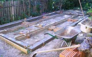 Фундамент для теплицы из поликарбоната и других материалов своими руками — пошаговая инструкция