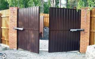 Как построить ворота из профнастила своими руками: пошаговая инструкция с расчетами и чертежами