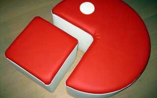 Пуфик своими руками: поэтапная инструкция по изготовлению красивого и функционального пуфика