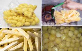 Как хранить очищенную картошку, сколько времени она может храниться в воде или холодильнике + фото и видео