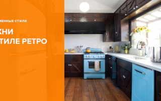 Кухня в стиле ретро: фото интерьеров, примеры оформления дизайна, выбор цвета и материала
