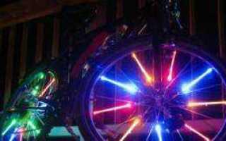 Как сделать подсветку колёс велосипеда своими руками + видео