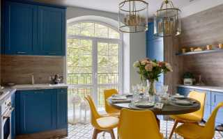 Дизайн кухни в голубых тонах: красивые сочетания в интерьере
