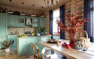 Дизайн кухни в деревянном доме, на даче: особенности оформления интерьера, варианты планировки