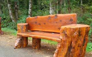 Садовые скамейки своими руками + видео