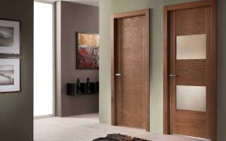 Шпонированные двери: разновидности, комплектующие, особенности установки и эксплуатации