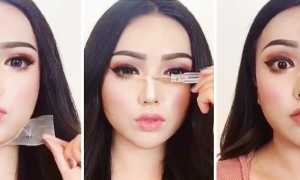 Азиатский вирусный макияж: как китаянки меняют себя при помощи грима, скотча и силиконовых носов