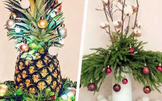 Чем заменить ёлку на новый год: фото и подборки идей