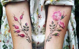 Акварельные татуировки для девушек: фото тату и описания