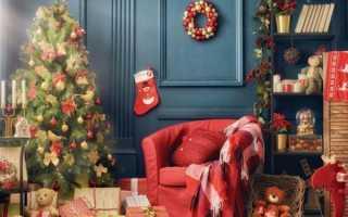 Новогодний декор дома: украшаем интерьер окна и стол