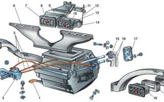 Замена радиатора печки ВАЗ 2107, 2105, 2104: почему течет, как снять и установить